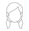 woman face cartoon vector image vector image