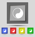 Yin Yang icon sign on original five colored vector image