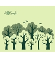 Abstract banner of green deciduous forest vector image