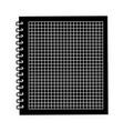 black icon notebook cartoon vector image