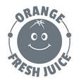 orange juice logo vintage style vector image