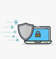 laptop shield protection vector image
