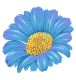 A fresh blue flower vector image vector image