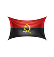 angola flag on a white vector image