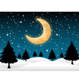 Background moon and stars night christmas vector image vector image