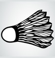 badminton shuttlecock or ball vector image vector image
