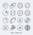 Balls icons set black and white vector image vector image