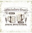 Beer festival emblem vector image vector image