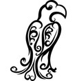 black tattoo decorative bird vector image vector image