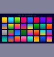 bright colorful gradients background huge set vector image vector image