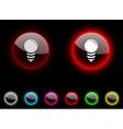 Bulb button vector image