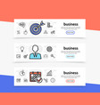 business elements horizontal banners vector image vector image
