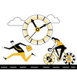 business people running and cycling vector image vector image