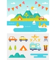 Camping and Outdoor Activities vector image vector image