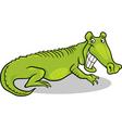 cartoon of crocodile vector image