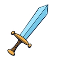 Cartoon sword vector image vector image