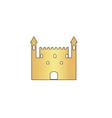 Castle computer symbol vector image vector image