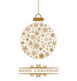 Christmas ball gold vector image vector image