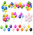 colorful balloon set isolated white background vector image vector image
