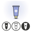 cosmetics or medical cream icon vector image