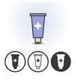 cosmetics or medical cream icon vector image
