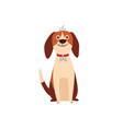 cute beagle dog or puppy sitting humor flat vector image vector image
