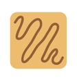 delicious cookies isolated icon design vector image