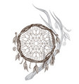 dreamcatcher native american indians talisman vector image