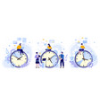 efficiency work time man woman and workers vector image vector image