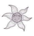 Elegant sun drawing vector image