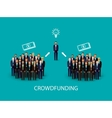 flat of an infographic crowdfunding concept a vector image