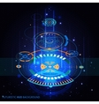 Futuristic HUD Background vector image vector image