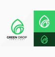 g letter green drop logo design abstract emblem vector image vector image