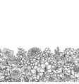 garden flowers seamless border vector image vector image