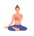 girl practicing pranayama young woman use special vector image