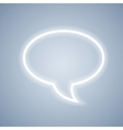 Glowing chat bubble symbol on light grey vector image vector image
