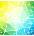 green blue mosaic low poly geometric background vector image vector image