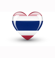 Heart-shaped icon with national flag of Thailand vector image vector image