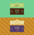 Herbal and detox tea packaging vector image vector image