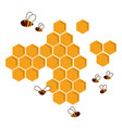 icon bee honeycomb hexagon natural honey struct vector image