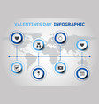 infographic design with valentines day icons vector image vector image
