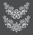 Lace single pattern set - half wreath