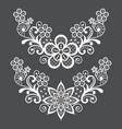 lace single pattern set - half wreath vector image vector image