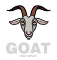 linear stylized drawing goats head vector image