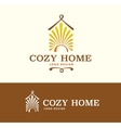 Logo Cozy Home on light and dark color vector image vector image