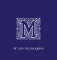 monogram m vector image vector image