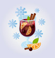 mulled wine glintwein vector image vector image
