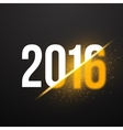 New Year 2016 Background with Explosion Effect vector image