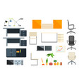 office furniture and objects collection vector image