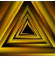 orange golden triangles abstract tech futuristic vector image vector image